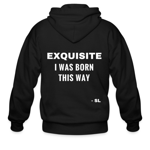 Exquisite I Was Born This Way Exquisite Black Queen Black Woman Quotes T-shirt Clothing by Stephanie Lahart. - Men's Zip Hoodie