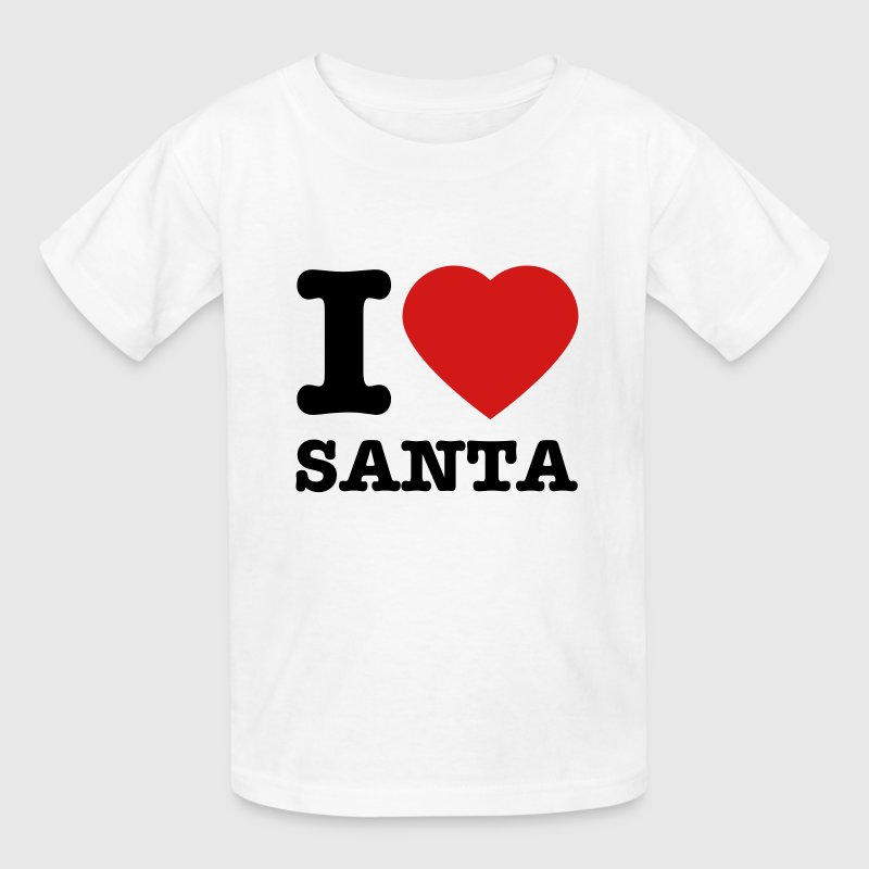 Kid's I Love Santa T-Shirt - Kids' T-Shirt