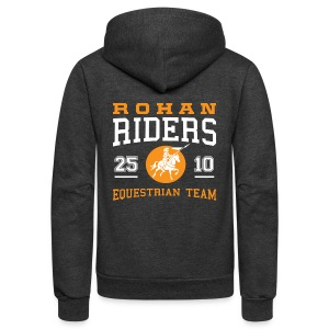 Rohan Riders - Unisex Fleece Zip Hoodie by American Apparel