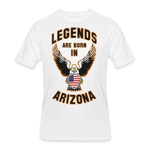 Legends are born in Arizona - Men's 50/50 T-Shirt