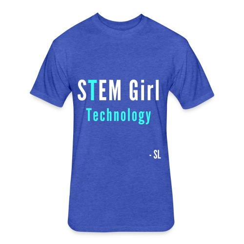 Women's STEM Girl Technology T-shirt Clothing by Stephanie Lahart. - Fitted Cotton/Poly T-Shirt by Next Level