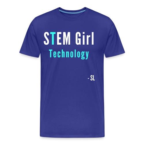 Women's STEM Girl Technology T-shirt Clothing by Stephanie Lahart. - Men's Premium T-Shirt