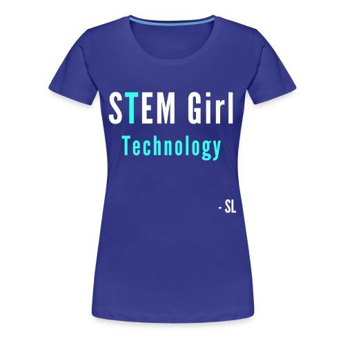 Women's STEM Girl Technology T-shirt Clothing by Stephanie Lahart. - Women's Premium T-Shirt