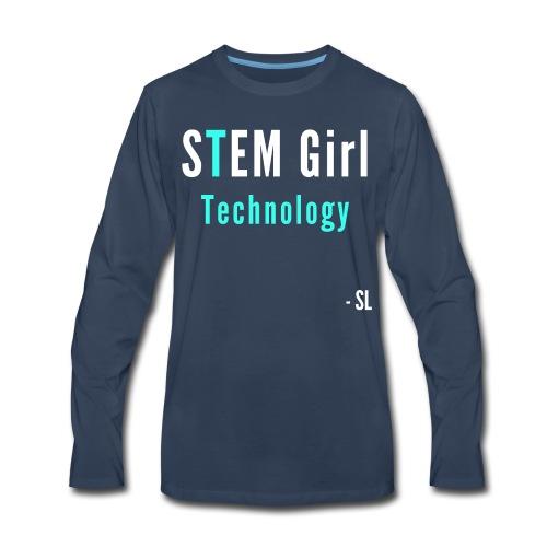 Women's STEM Girl Technology T-shirt Clothing by Stephanie Lahart. - Men's Premium Long Sleeve T-Shirt