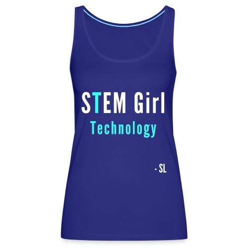 Women's STEM Girl Technology T-shirt Clothing by Stephanie Lahart. - Women's Premium Tank Top