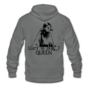 Lucy is our Queen - Crew-neck - Unisex Fleece Zip Hoodie by American Apparel