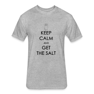 Keep Calm and Get the Salt - Crew-neck - Fitted Cotton/Poly T-Shirt by Next Level
