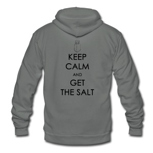 Keep Calm and Get the Salt - Crew-neck - Unisex Fleece Zip Hoodie by American Apparel