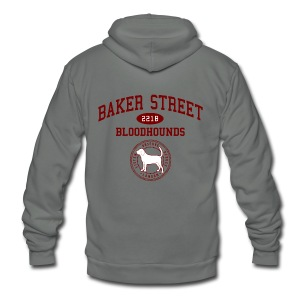 Baker Street Bloodhounds - Unisex Fleece Zip Hoodie by American Apparel