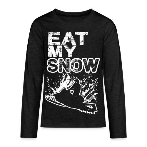 Snowmobile Eat My Snow - Kids' Premium Long Sleeve T-Shirt