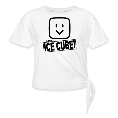 Team IC! hanger shirt - Women's Knotted T-Shirt