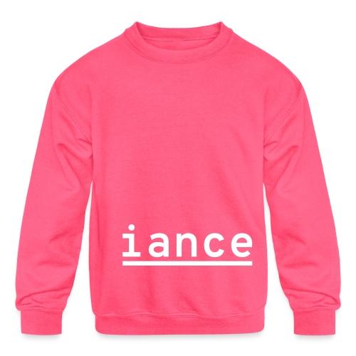 iance hanger shirt - Kids' Crewneck Sweatshirt