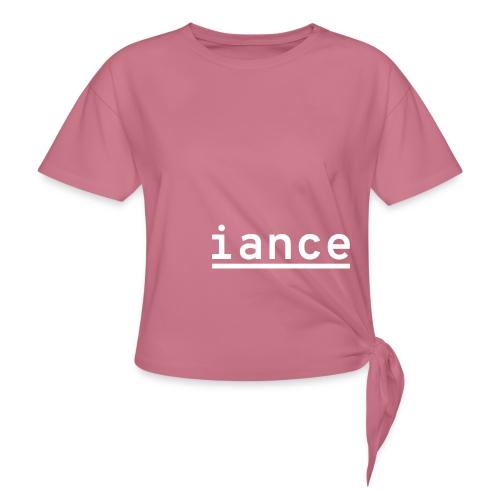 iance hanger shirt - Women's Knotted T-Shirt