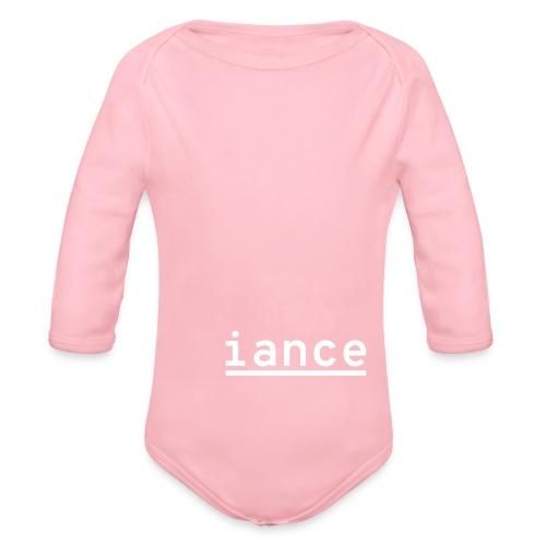 iance hanger shirt - Organic Long Sleeve Baby Bodysuit