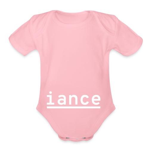 iance hanger shirt - Organic Short Sleeve Baby Bodysuit