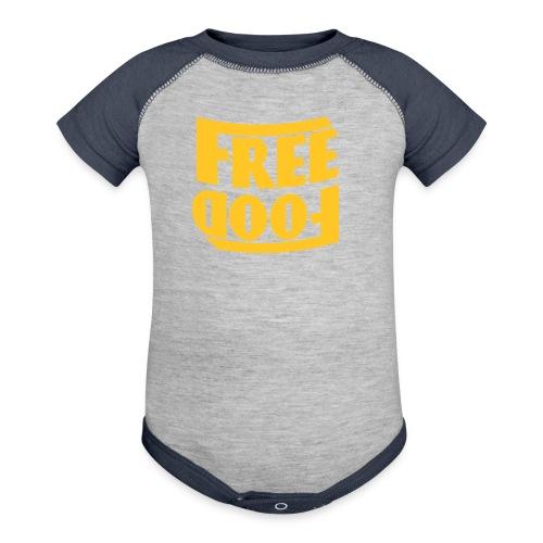 Free Food hanger shirt - Baseball Baby Bodysuit