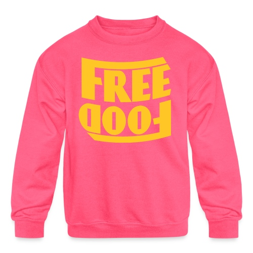 Free Food hanger shirt - Kids' Crewneck Sweatshirt