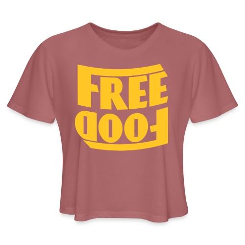 Free Food hanger shirt - Women's Cropped T-Shirt