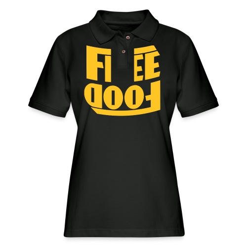 Free Food hanger shirt - Women's Pique Polo Shirt