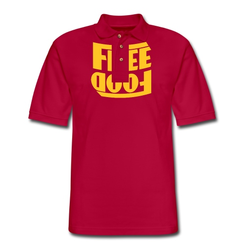 Free Food hanger shirt - Men's Pique Polo Shirt