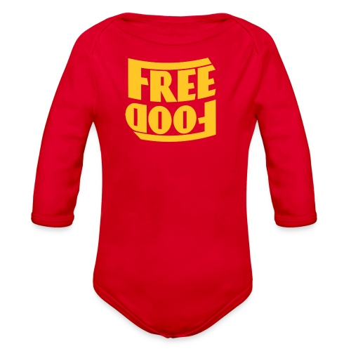 Free Food hanger shirt - Organic Long Sleeve Baby Bodysuit