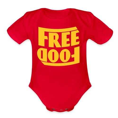 Free Food hanger shirt - Organic Short Sleeve Baby Bodysuit