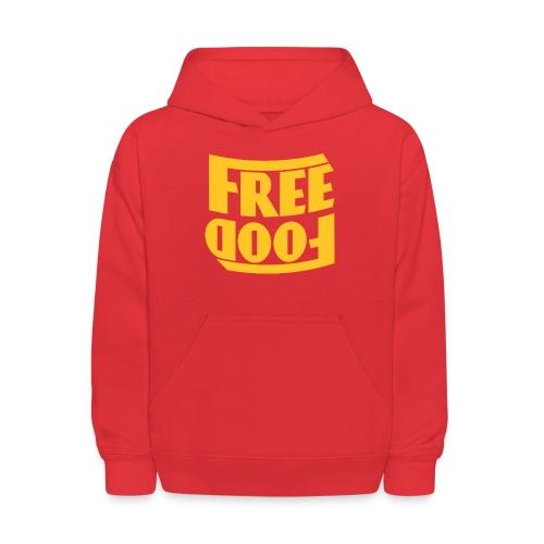 Free Food hanger shirt - Kids' Hoodie