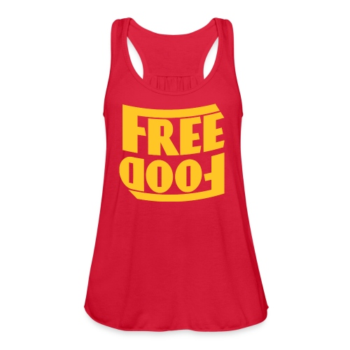 Free Food hanger shirt - Women's Flowy Tank Top by Bella