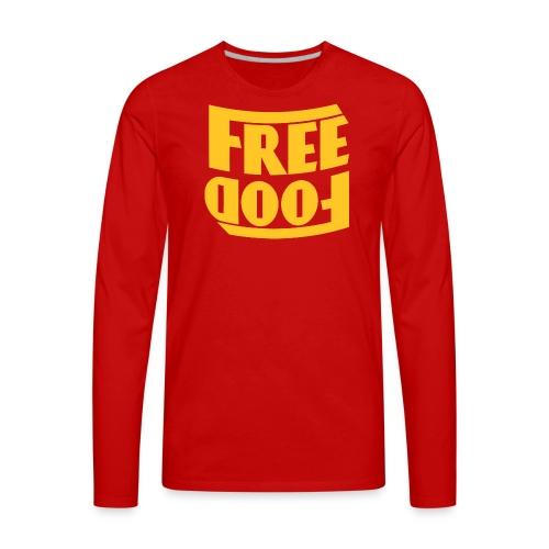 Free Food hanger shirt - Men's Premium Long Sleeve T-Shirt
