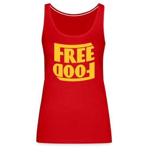 Free Food hanger shirt - Women's Premium Tank Top