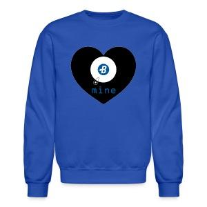 B-mine The Burstcoin miners shirt - Crewneck Sweatshirt