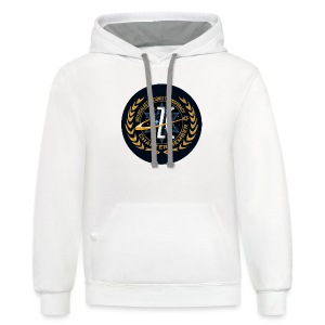 Intergalactic Zionist Conspiracy Button - Contrast Hoodie