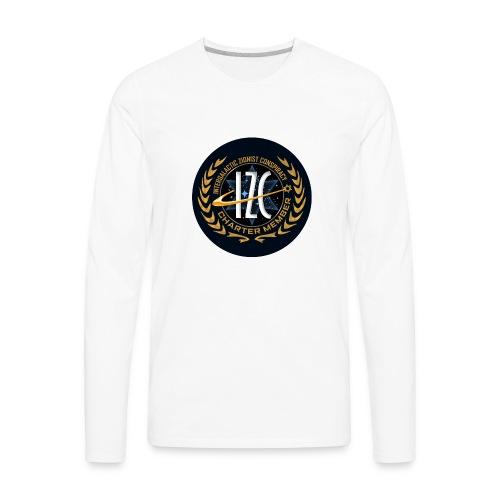 Intergalactic Zionist Conspiracy Button - Men's Premium Long Sleeve T-Shirt