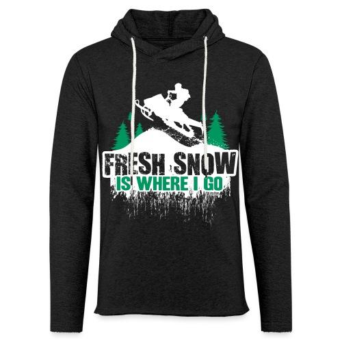Fresh Snow Snowmobile - Unisex Lightweight Terry Hoodie