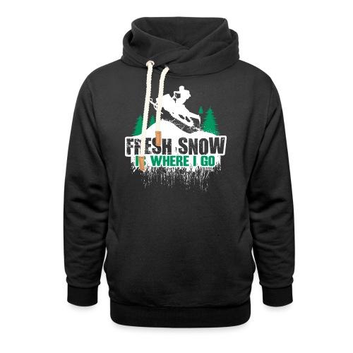 Fresh Snow Snowmobile - Shawl Collar Hoodie