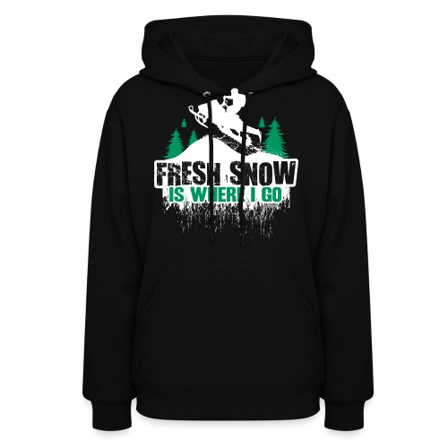 Fresh Snow Snowmobile - Women's Hoodie