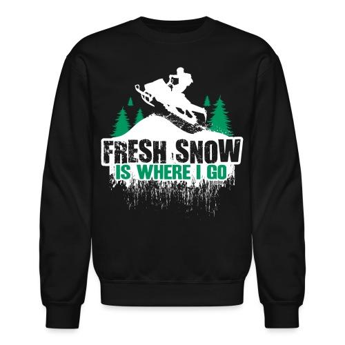 Fresh Snow Snowmobile - Crewneck Sweatshirt