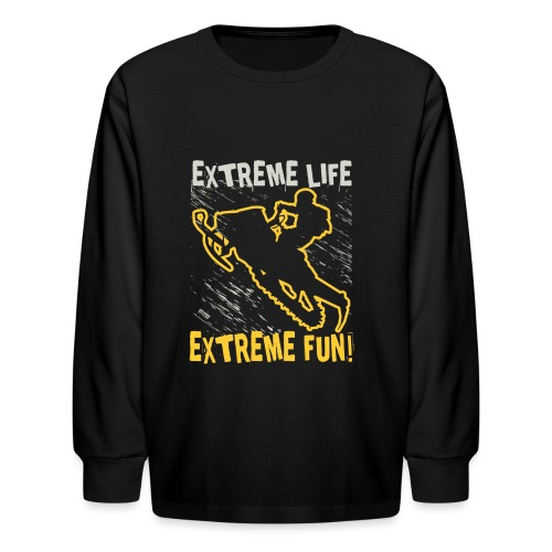 Extreme Fun Snowmobile - Kids' Long Sleeve T-Shirt
