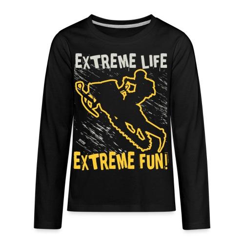Extreme Fun Snowmobile - Kids' Premium Long Sleeve T-Shirt