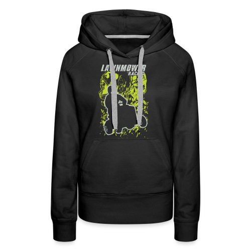 Lawnmower Skull Scream - Women's Premium Hoodie