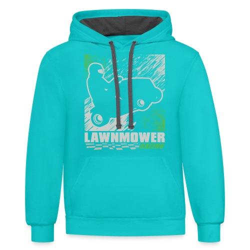 Lawnmower Racing - Contrast Hoodie