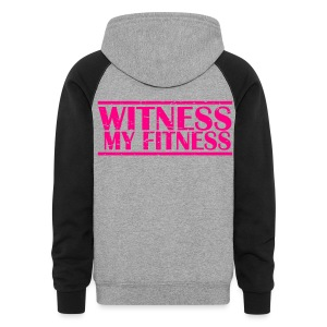 Witness My Fitness gym workout motivation Shirt - Colorblock Hoodie