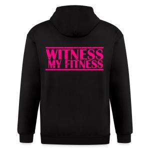 Witness My Fitness gym workout motivation Shirt - Men's Zip Hoodie