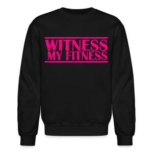 Witness My Fitness gym workout motivation Shirt - Crewneck Sweatshirt