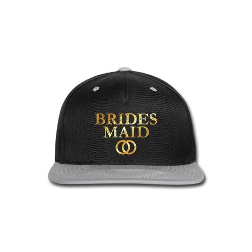 Brides Maid Wedding Rings T-Shirt (Ancient Gold) - Snap-back Baseball Cap