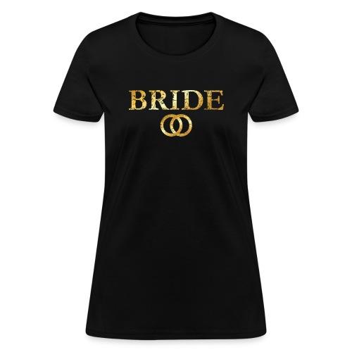 Bride Wedding Rings T-Shirt (Ancient Gold) - Women's T-Shirt