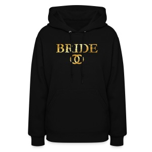 Bride Wedding Rings T-Shirt (Ancient Gold) - Women's Hoodie