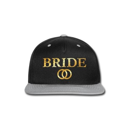 Bride Wedding Rings T-Shirt (Ancient Gold) - Snap-back Baseball Cap
