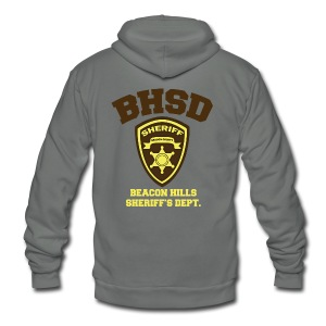 Beacon Hills Sheriff's Department (Large Logo) - Crew-neck - Unisex Fleece Zip Hoodie by American Apparel