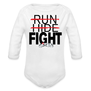 Run Hide Fight Black
